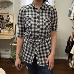 Forever 21 Gingham Button Down - Sz M
